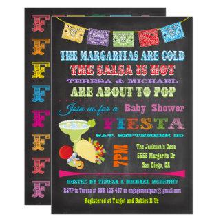 Tafel-mexikanische Fiesta verbindet Babyparty Karte
