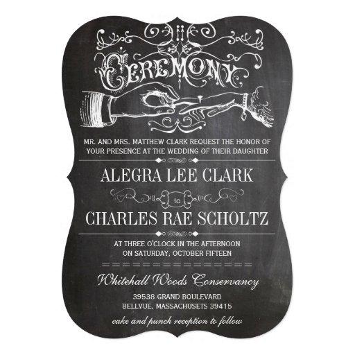 Tafel-moderne Vintage Typografie laden ein Personalisierte Ankündigung