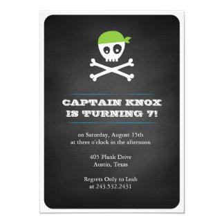 Tafel-Pirat 12,7 X 17,8 Cm Einladungskarte