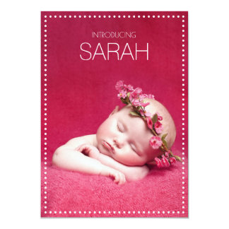 Tafel punktiert Geburts-Mitteilungen 12,7 X 17,8 Cm Einladungskarte