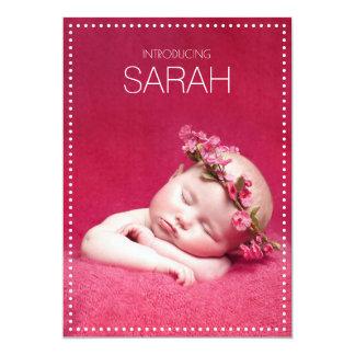 Tafel punktiert Geburts-Mitteilungen Karte