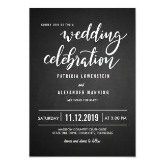 Tafel-rustikale Hochzeits-Feier-Typografie Karte
