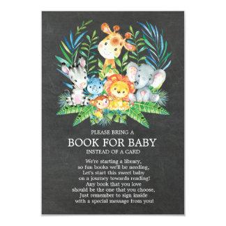 Tafel-Safari-Dschungel-Babyparty-Buch für Baby Karte