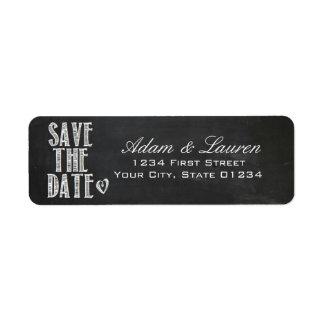 Tafel-Save the Date Adressen-Etiketten