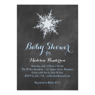 Tafel-Schneeflocke-Babyparty-Einladung - Blau 12,7 X 17,8 Cm Einladungskarte