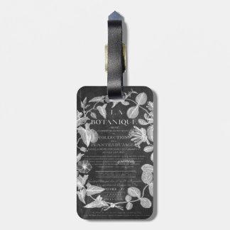 Tafel scripts französisches botanisches gepäckanhänger