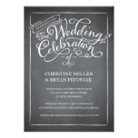 Tafel-Skript-weiße Hochzeits-Einladung