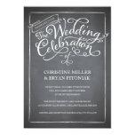 Tafel-Skript-weiße Hochzeits-Einladung 12,7 X 17,8 Cm Einladungskarte