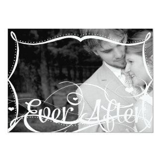Tafel-Typografie, die Ihre Foto-Hochzeit einladen 12,7 X 17,8 Cm Einladungskarte
