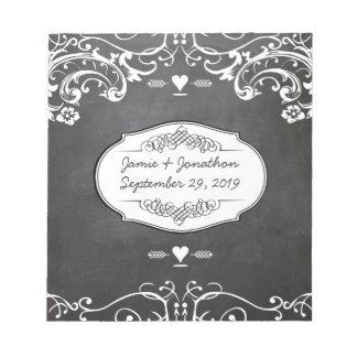 Tafel-Typografie-Hochzeiten Notizblock