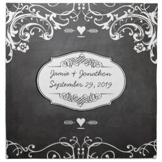 Tafel-Typografie-Hochzeiten Stoffserviette