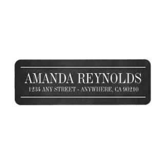 Tafel-Typografie-Hochzeits-Adressen-Etiketten Rückversand-Adressaufkleber