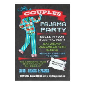 Tafel verbindet Pyjama-Party Einladungen
