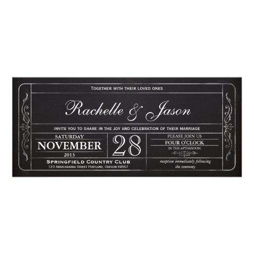 Tafel-Vintage Hochzeits-Karten-Einladung