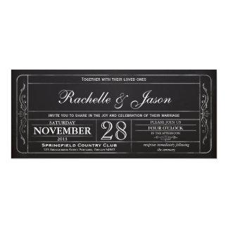 Tafel-Vintage Hochzeits-Karten-Einladung 10,2 X 23,5 Cm Einladungskarte