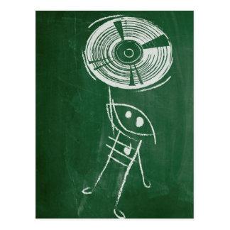 Tafel-Vinylaufzeichnung Cartton Postkarte