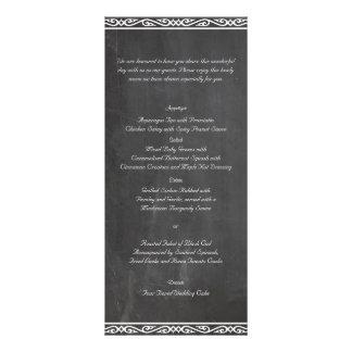 Tafel-vornehmes Hochzeits-Menü Personalisierte Werbekarte