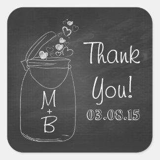 Tafel-Weckglas danken Ihnen Aufkleber