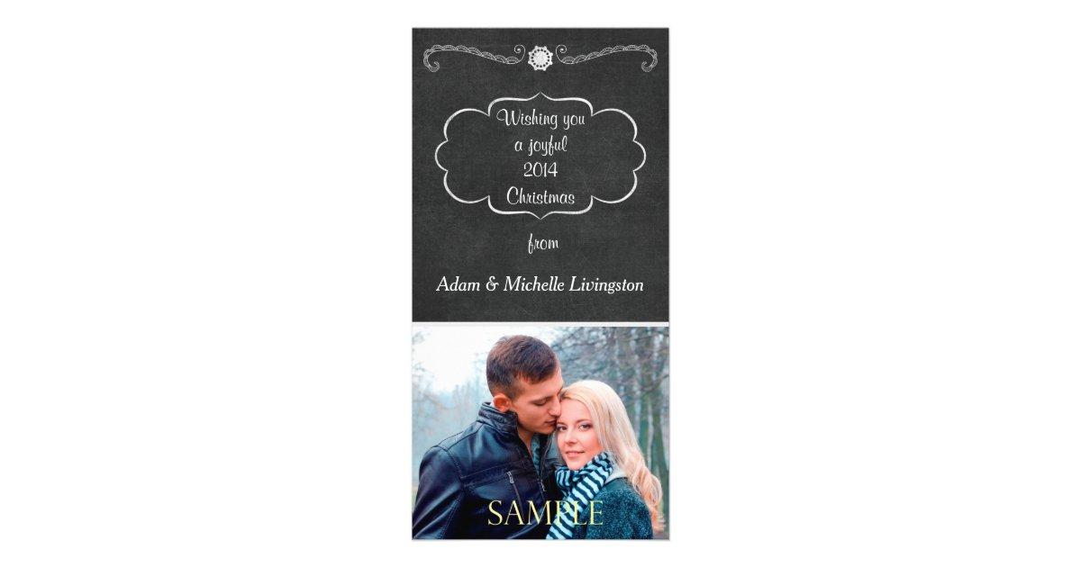 Tafel Weihnachten Photokartenvorlage   Zazzle