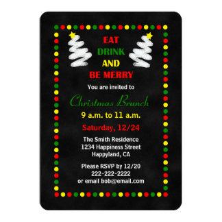 Tafel-WeihnachtsBrunch-Einladungen 12,7 X 17,8 Cm Einladungskarte