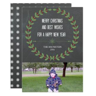 Tafel-WeihnachtsFoto-Karten-frohe Weihnachten Karte