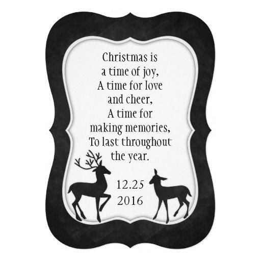 Tafel-Weihnachtskarte Weihnachtsgedicht Ankündigungskarten
