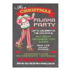 Tafel-Weihnachtspyjama-Party Einladungen