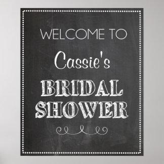Tafel-willkommenes Brautparty-Zeichen Plakatdruck