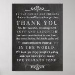 Tafelplakat - danke Hochzeitszeichen Plakate