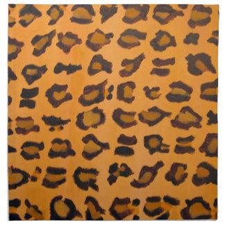 Tafelserviette-Stoff-Serviette-Leopard-Druck Serviette