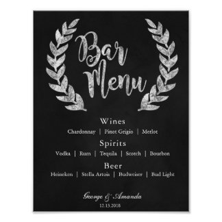 Tafelwreath-Bar-Menü Poster