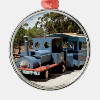 Taffy, Zug-Motorlokomotive Rundes Silberfarbenes Ornament