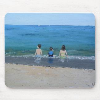 Tag am Strand Mauspad