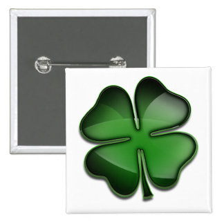 Tag Bling St. Patricks Quadratischer Button 5,1 Cm
