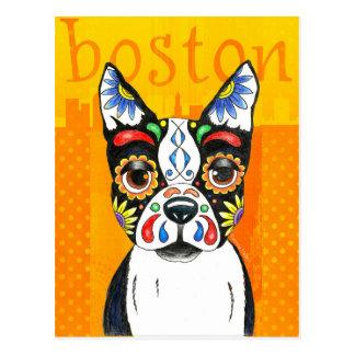 Tag Bostons Terrier der Toten Postkarte