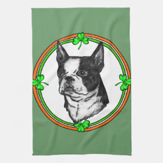 Tag Bostons Terrier St Patrick Handtuch