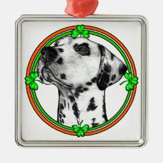 Tag Dalmatiner-St. Patricks Silbernes Ornament