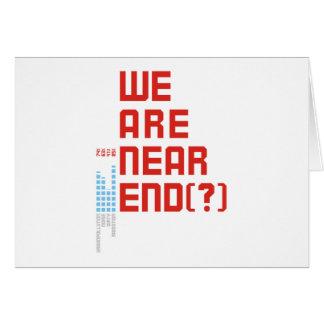 Tag der Erde 2009 am 22. April sind wir nahes Ende Grußkarte