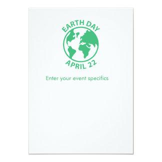 Tag der Erde, am 22. April 12,7 X 17,8 Cm Einladungskarte
