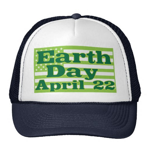 Tag der Erde am 22. April Baseballkappen
