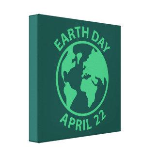 Tag der Erde, am 22. April Leinwand Druck