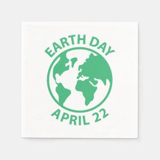 Tag der Erde, am 22. April Papierservietten