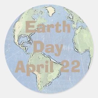 Tag der Erde am 22. April, Porto-Aufkleber Runder Aufkleber