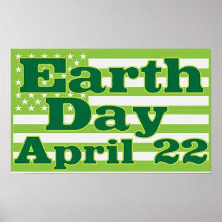 Tag der Erde am 22. April Poster
