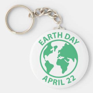 Tag der Erde, am 22. April Standard Runder Schlüsselanhänger