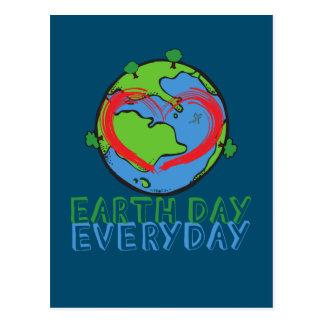 Tag der Erde: Behalten Sie Mutter-Natur-Grün u. Postkarte