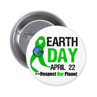 Tag der Erde-Bewusstsein Anstecknadelbutton