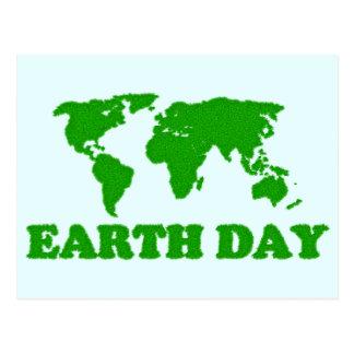 Tag der Erde-Gras-Karten-Postkarte Postkarte