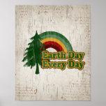Tag der Erde jeden Tag, Retro Regenbogen Plakate