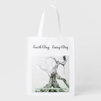 Tag der Erde jeden Tag Wiederverwendbare Einkaufstasche